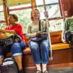 Vrouw in tram